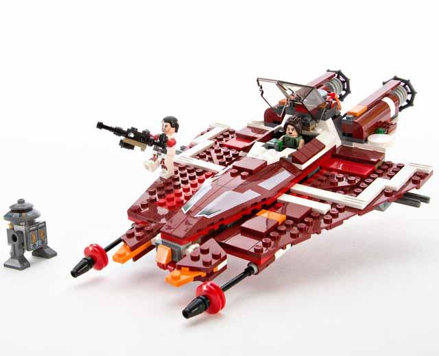 en US theme Star Wars Republic Striker class Starfighter