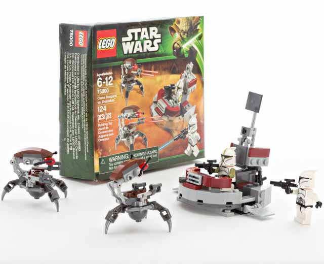Lego star wars clone troopers vs droidekas 75000 pley for Build a house for 75000